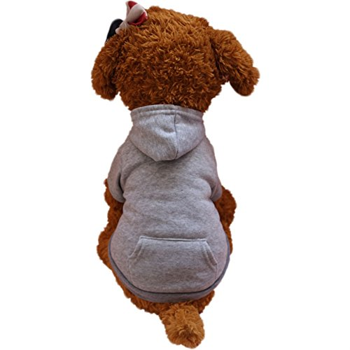 Glumes Basic Cotton Pet Dog Sweatshirt Hoodie, Cold Weather Warm Coat Costumes for Small Dog Medium Dog Or Cat