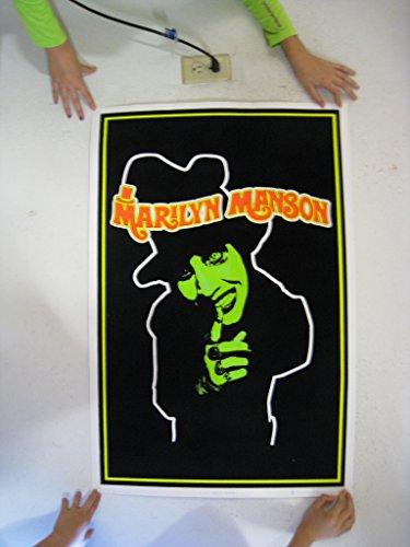 Marilyn Manson Poster Blacklight Creepy