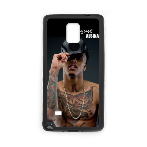 Fayruz- Personalized August Alsina Protective Hard Rubber Phone Case for Samsung Galaxy Note 4 Note4 Cover I-N4O200