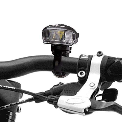 SAMLITE Best USB Rechargeable LED Bike Light Set Trip-LIT Super Bright 400 Lumens Headlight LED Front Light with Free LED Tail Light Set Two USB Charging Cables Included for Safety Cycling