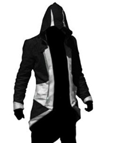 TEENTAGE Assassin's Creed 3 Connor Kenway Hoodie Jacket,Black And (Assassin's Creed 3 Costumes)