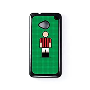 Milan Black Hard Plastic Case for HTC? One M7 by Blunt Football European + FREE Crystal Clear Screen Protector