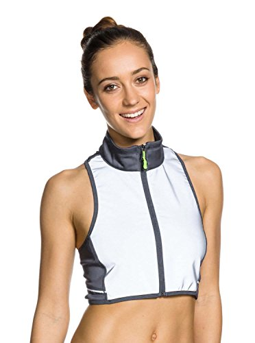 Roxy Outdoor Fitness Juniors Get Glowing Reflective Vest, Titanium, (Titanium Vest)