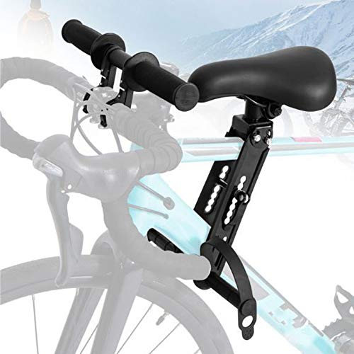 Kids Bike Seat for Mountain Bikes,Portable Front Mounted Bicycle Seats with Handlebar for Children 2-5 Years (up to 48…