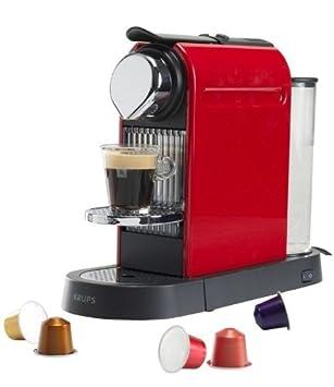 Krups Nespresso Citiz Flow Stop XN7006 Máquina de café en cápsulas 1L Rojo - Cafetera (Máquina de café en cápsulas, 1 L, 1260 W, Rojo): Amazon.es: Hogar