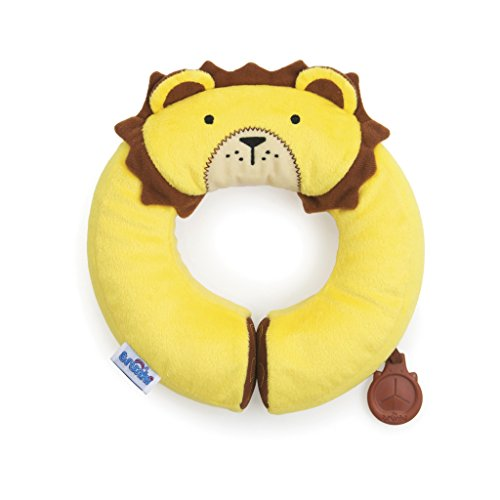 Trunki Kid's Travel Neck Pillow with Magnetic Child's Chin Support - Yondi Small Leeroy Lion (Yellow) (Lion Neck Pillow)