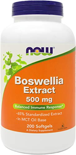 Now Boswellia Serrata Extract 500 mg, 200 Softgels - Tree Gum Resin in MCT Oil Base - Herbal Supplement ()