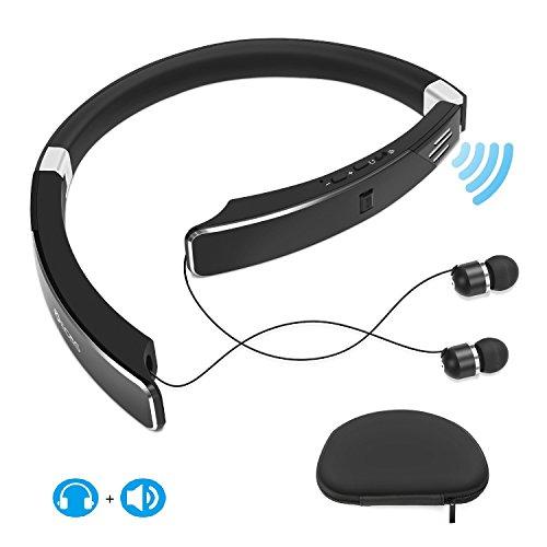 Neckband Bluetooth headphone with External Speaker, Foldable