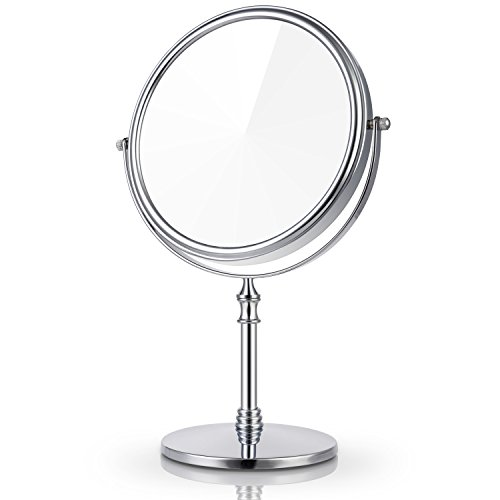 Miusco 7X Magnifying Two Sided Vanity Makeup Mirror, Round, -