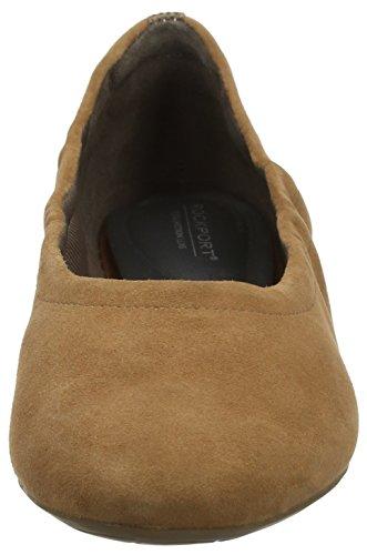 Flats Wedge Beige Women's Rockport 20mm Hidden Total Coconut Ballet Suede Motion nP0qXRw0