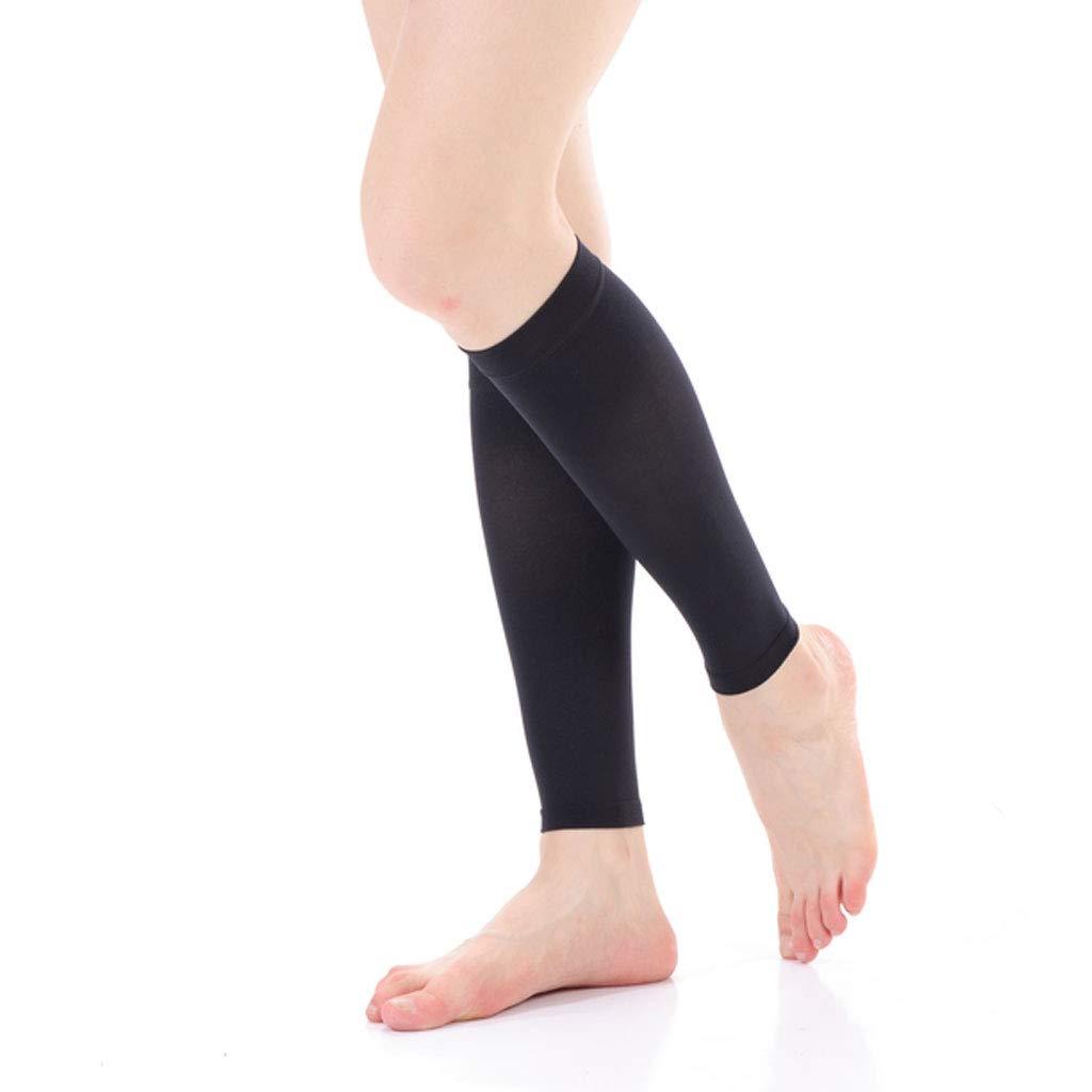 DONGBALA Varicose Stockings Medical Male and Female Nursing Calf Elastic Treatment Type Nurse Anti-Thrombosis varicose Socks,blackA,XL