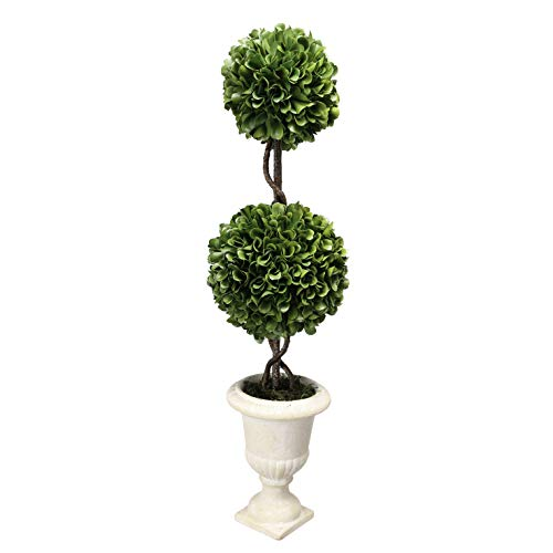 Double Sphere Topiary - A&B Home 20″ Faux Topiary-Double Sphere Boxwood Green