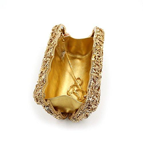 à Gold Luxe Sac En à Main Femme En Diamant En à Diamant Diamant De Pour Main Sac Sac Main xA6XnX