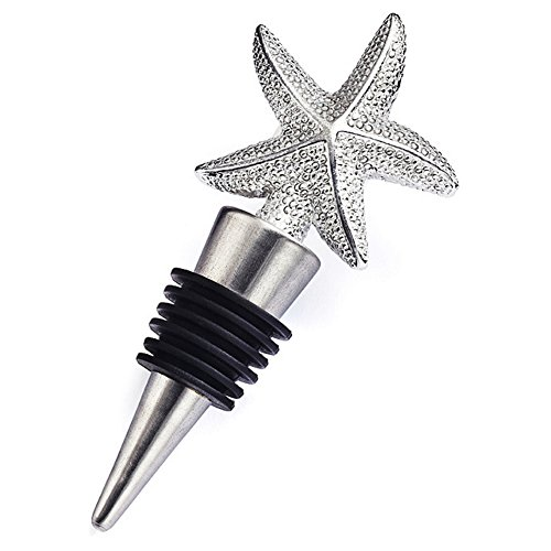 Ossierr6 Elegant Starfish Wine Bottle Stopper Barware Tool Wedding Party Favor Gift Party Beach Summer
