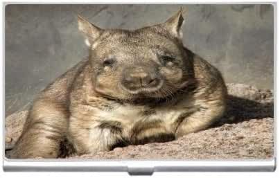 New Wombat Resting Business Credit Card Holder Case