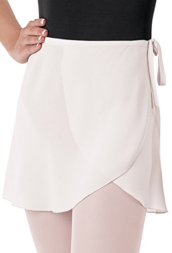Balera Skirt Girls Wrap for Ballet Dance Georgette Tie Waist White Child Large