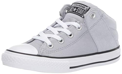 Converse Boys Kids' Chuck Taylor All Star Axel Cushioned Mid Top Sneaker, Wolf Grey/White/Black, 3 M US Little ()