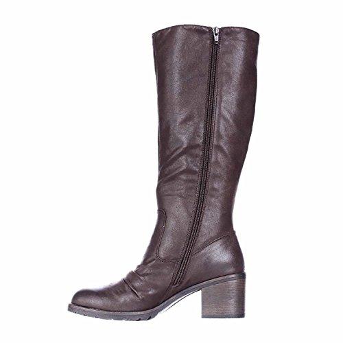 Closed 2 Traps Calf Dark Calf Womens Fashion Mid Boots Brown Wide Dallia Bare Toe YW4nB4