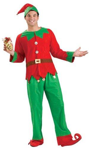 Forum Novelties Women's Simply Elf Costume, Multi, One Size Christmas Elf Costumes