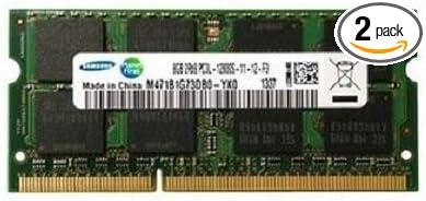 Samsung ram memory 16GB kit DDR3 PC3L-12800,1600MHz 2 x 8GB 204 PIN SODIMM for laptops