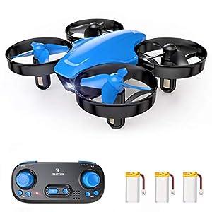 SNAPTAIN SP350 Mini Drone Enfant, Drone Jouet Télécommandé, 21 Mins Autonomie avec 3 Batteries, Mode sans Tête, Maintien…