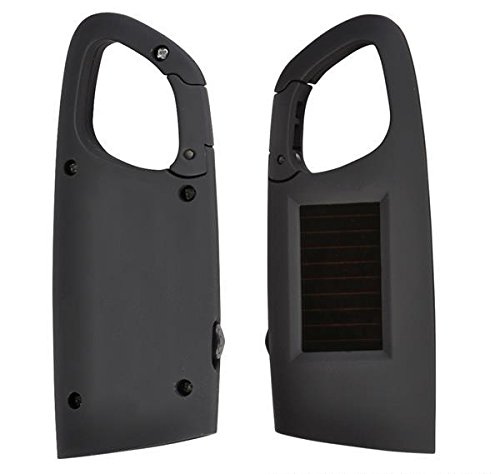 DollarItemDirect BLACK SOLAR FLASHLIGHT WTH CLIP-ON, Case of 200 by DollarItemDirect