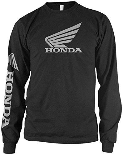 Honda Motorcycle Shirts (Honda Mens Wing Long-Sleeve Shirt, Black, X-Large)
