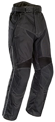 Tourmaster Mens Caliber Black Pants (Tall Sizes) - Large