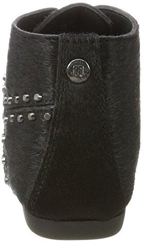 Ginger Black pony Studs Femme Leather Schwarz Hairon Chukka Boots Maruti RgcwqxdzvR