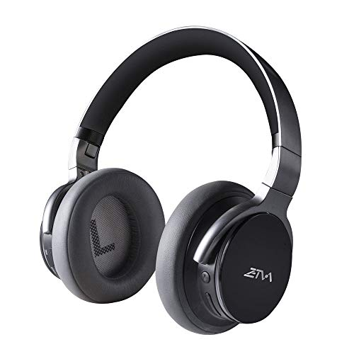 Active Noise Cancelling Headphones HiFi Sound Over Ear Soft Earmuffs, Wireless Headphones 25 Hrs Play Time with Mic for Travel Out Work Cellphone PC