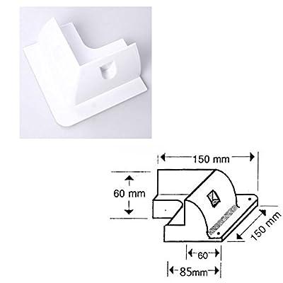 Nuzamas-Solarpanel-Montage-Seitenklammern-4-Ecken-und-Doppel-Kabeleinfhrung-fr-Wohnmobile-Wohnwagen-Boote-Schuppen-UV-bestndig-Wei