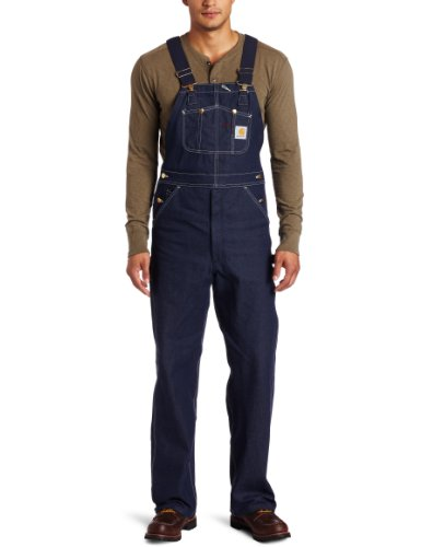 Carhartt Men's Denim Bib Overalls Unlined R08,Denim,34 x 32