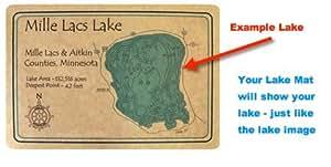 Sakakawea–1874en McLean, ND–alfombrilla de suelo 30x 18en–Carta náutica y topográficos mapa de profundidad.