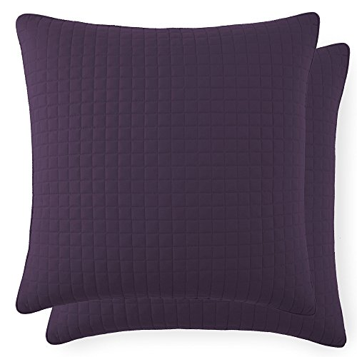 (Southshore Fine Linens - VILANO Springs - Pair of Quilted Pillow Sham Covers (No Inserts), 26