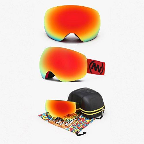 SE7VEN Lunettes De Ski Panoramique,Unisexe Lentille Double Couche Coupe-vent Otg Lunettes De Sécurité N