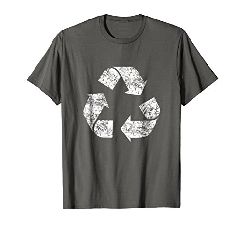 Recycle Symbol Shirt, Distressed Earth Day Environment Gift