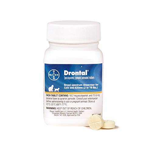 Bayer Drontal Broad Spectrum Dewormer, 50 Tablets