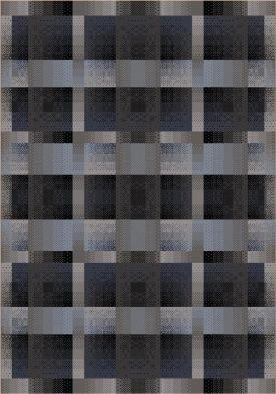 (Milliken Modern Times Aura | Charcoal Area Rug 5'4
