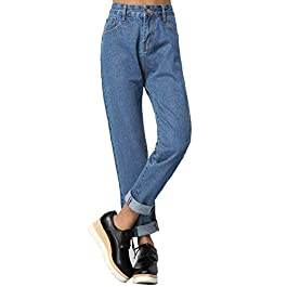 Women's Juniors Boyfriend Jean High Waist Capri Cropped Denim Jeans