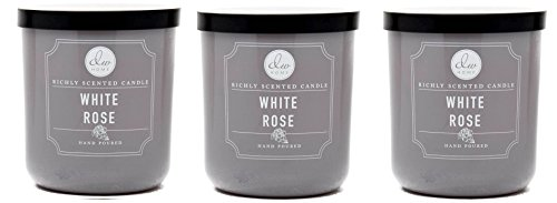 (DW Home White Rose Richly Scented Candle Small Single Wick Hand Poured From 4.)