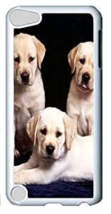 Fashion Customized Case for iPod Touch 5 Generation White Cool Plastic Case Back Cover for iPod Touch 5th with Cute Dog