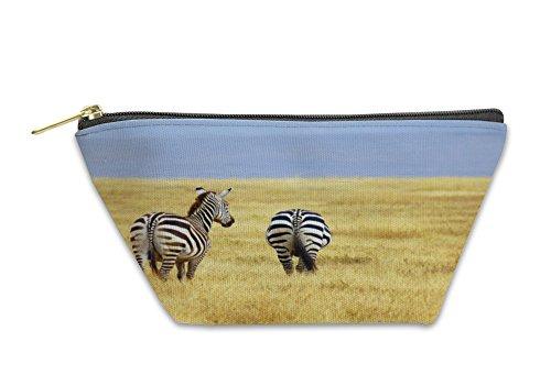 Gear New Accessory Zipper Pouch, Zebra S Grazing On Grassland In Africa, Small, 5930200GN by Gear New