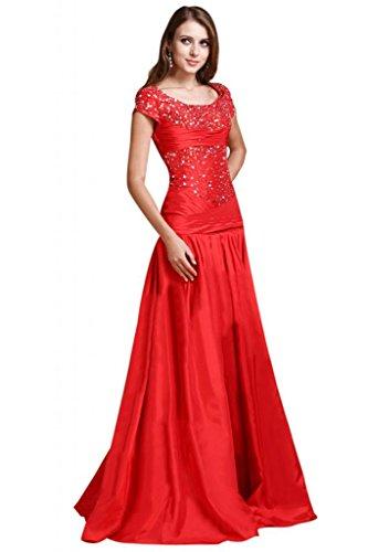 Red elegante sposa Sunvary A line da donna abiti da maniche perline sera con abiti da TxtqZx6v