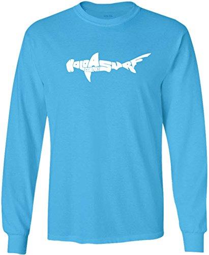 Hammerhead Tank - Joe's USA Koloa Tall Hammerhead Logo Long Sleeve 50/50 Cotton/Poly T-Shirt-Aquatic/w-3XLT