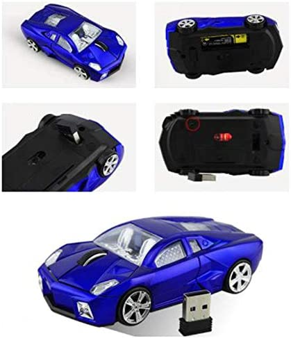 Keturi Gaming Mouse Sports Car Photoelectric Wireless Mouse Computer Mouse for Laptop red