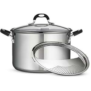 Amazon Com Tramontina 8 Quart Gourmet Stainless Steel
