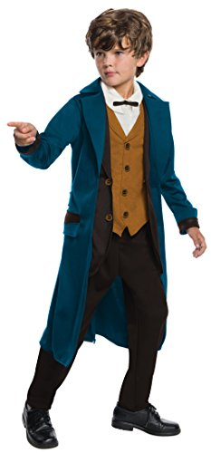 Beast Boy Costume For Kids (Rubie's Costume Boys Fantastic Beasts & Where To Find Them Deluxe Newt Scamander Costume, Large, Multicolor)