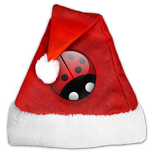 lahedeg Ladybug Beetle Spring Plant Christmas Hat Kids Santa Claus Child Cap Xmas Ornament Decor Festival Party Cap Decorations Gifts]()