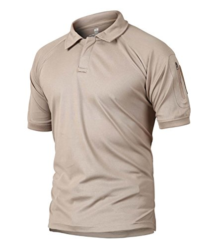 CRYSULLY Men Young Boys Polyester Combat Polo Shirt Casual Polo Top Turn-Down Collar T-Shirt Top Blouse 2018 ()