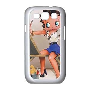 Samsung Galaxy S3 9300 Cell Phone Case White Betty Boop the Artist JNR2063898